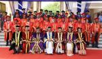 The Vice President, Shri M. Venkaiah Naidu with the Faculty Members of the Postgraduate Institute of Medical Education and Research, Dr. Ram Manohar Lohia Hospital on the occasion of its 8th Convocation, in New Delhi on April 26, 2018. The Union Minister for Health & Family Welfare, Shri J.P. Nadda, the Ministers of State for Health & Family Welfare, Shri Ashwini Kumar Choubey and Smt. Anupriya Patel and other dignitaries are also seen.