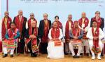 The Vice President, Shri M. Venkaiah Naidu with the Faculty of Swami Rama Himalayan University on the occasion of its the 2nd Convocation, in Dehradun, Uttarakhand on December 05, 2017. The Governor of Uttarakhand, Shri Krishan Kant Paul, the Chief Minister of Uttarakhand, Shri Trivender Singh Rawat, the Minister of State for Higher Education, Uttarakhand, Dr. Dhan Singh Rawat and other dignitaries are also seen.