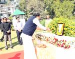 The Vice President, Shri M. Venkaiah Naidu paying floral tributes to former President, Dr. Rajendra Prasad, on his 133rd Birth Anniversay, in Guwahati, Assam on December 03, 2017.