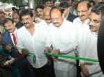 The Vice President, Shri M. Venkaiah Naidu inaugurating the Andhra University Convention Centre, in Visakhapatnam, Andhra Pradesh on December 09, 2017. The Minister for Health & Medical Education, Andhra Pradesh, Dr. Kamineni Srinivas, the Minister for Education, Andhra Pradesh, Shri Ganta Srinivasa Rao and other dignitaries are also seen.