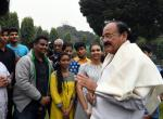 The Vice President, Shri M. Venkaiah Naidu interacting with the Students of St. Mary's Junior College, Yusufguda, Hyderabad, in New Delhi on December 04, 2017.
