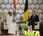 The Vice President, Shri M. Venkaiah Naidu calling on His Majesty The King Philippe of Belgium, in New Delhi on November 07, 2017.