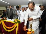 The Vice President, Shri M. Venkaiah Naidu lighting the lamp at an event to meet the Members from Advocates Associations of Andhra Pradesh & Telangana, in Hyderabad on November 20, 2017. The Deputy Chief Minister of Telangana, Shri Mohammad Mahmood Ali and other dignitaries are also seen.