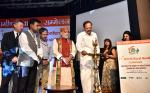 """The Vice President, Shri M. Venkaiah Naidu lighting the lamp to inaugurate the 15th World Rural Health Conference with the theme """"Healing the Heart of Healthcare - Leaving no one behind"""", in New Delhi on April 26, 2018. The Minister of State for Health & Family Welfare, Shri Ashwini Kumar Choubey and other dignitaries are also seen."""