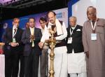 The Vice President, Shri M. Venkaiah Naidu lighting the lamp to inaugurate the 21st International Conference on Small and Medium Enterprises, organized by the World Association for Small and Medium Enterprises, in New Delhi on November 30, 2017. The Union Minister for Commerce & Industry, Shri Suresh Prabhakar Prabhu, the Minister of Industry, Government of Bangladesh, Mr. Amir Hossain Amu, the Minister of Business, Enterprise and Co-operatives, Government of Mauritius, Mr. Soomilduth Bholah and other digni