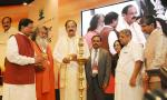 The Vice President, Shri M. Venkaiah Naidu lighting the lamp to inaugurate the 3rd International Yoga Conference, in New Delhi on October 10, 2017. The Minister of State for AYUSH (Independent Charge), Shri Shripad Yesso Naik and other dignitaries are also seen.