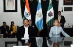 The Vice President, Shri M. Venkaiah Naidu with the Mayor of Antigua City, Mrs. Susana Heidi Asencio Lueg at the Municipal Council, on his visit to Antigua City, in Guatemala on May 08, 2018.