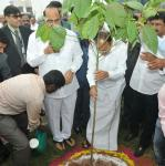 The Vice President, Shri M. Venkaiah Naidu planting a sapling at the premises of Andhra University, in Visakhapatnam, Andhra Pradesh on December 09, 2017. The Minister for Health & Medical Education, Andhra Pradesh, Dr. Kamineni Srinivas, the Minister for Education, Andhra Pradesh, Shri Ganta Srinivasa Rao and other dignitaries are also seen.
