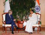 The Prime Minister of the Republic of Italy, Mr. Paolo Gentiloni calling on the Vice President, Shri M. Venkaiah Naidu, in New Delhi on October 30, 2017.