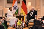 The Vice President, Shri M. Venkaiah Naidu calling on the President of the Federal Republic of Germany, Dr. Frank-Walter Steinmeier, in New Delhi on March 24, 2018.