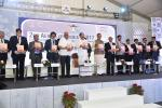 The Vice President, Shri M. Venkaiah Naidu releasing the souvenir at the inaugural function of the 2nd 'Aero Expo India-2017', in New Delhi on November 02, 2017. The Union Minister for Civil Aviation, Shri Ashok Gajapathi Raju Pusapati and the Minister of State for Civil Aviation, Shri Jayant Sinha are also seen.