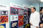 The Vice President, Shri M. Venkaiah Naidu visiting the Centre for Nano Science Engineering at the Indian Institute of Science, in Bengaluru, Karnataka on September 27, 2017. The Governor of Karnataka, Shri Vajubhai Rudabhai Vala, the Home Minister of Karnataka, Shri R. Ramalinga Reddy and other dignitaries are also seen.