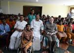 The Vice President, Shri M. Venkaiah Naidu with the differently abled children and Special Educators from Centre For Empowerment & Enrichment, in Kochi, Kerala on November 21, 2017. The Governor of Kerala, Shri P. Sathasivam and the Minister for Local Self-Governments, Welfare of Minorities, Wakf and Haj, Kerala, Dr. K.T. Jaleel are also seen.